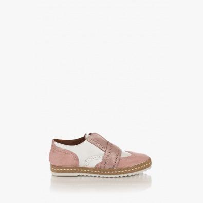 Розови дамски обувки с апрепаска Елла