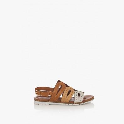 Кожени дамски сандали Каролин