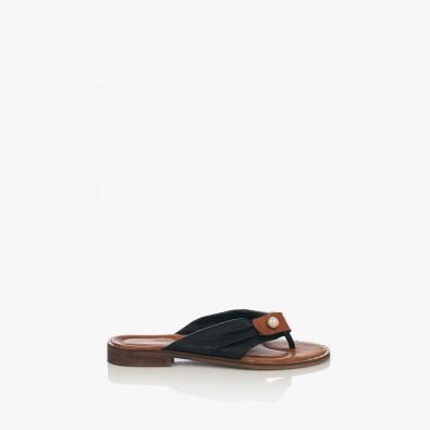 Черни дамски чехли с капси Шърли