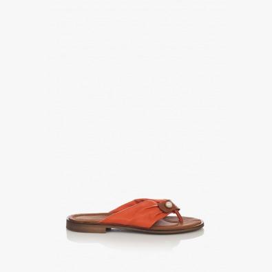 Цветни дамски чехли с аксесоар Шърли