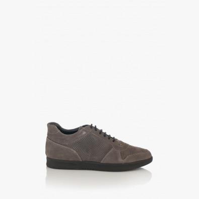 Сиви велурени мъжки обувки Крисчън