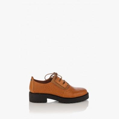 Кожени дамски обувки с връзки Дороти