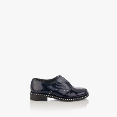Дамски обувки естествен лак в синьо Барбара