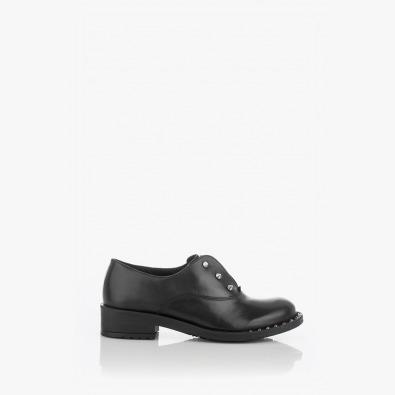 Черни кожени дамски обувки Даниеле