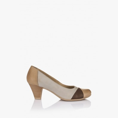 Кожена дамска обувка Каролина