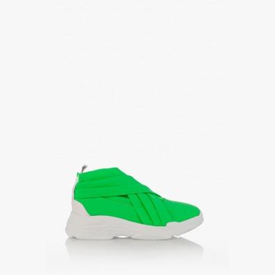 Дамски спортни обувки в неоново зелено Черил