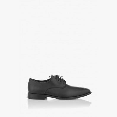 Черни мъжки класически кожени обувки Грийн