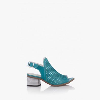 Кожени дамски сандали на ток Мелиса