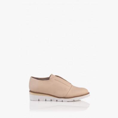 Кожени дамски обувки в бежов цвят Ровена