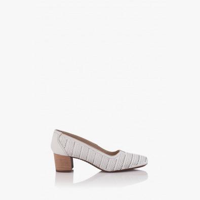 Перфорирани летни дамски обувки на ток Бенедета