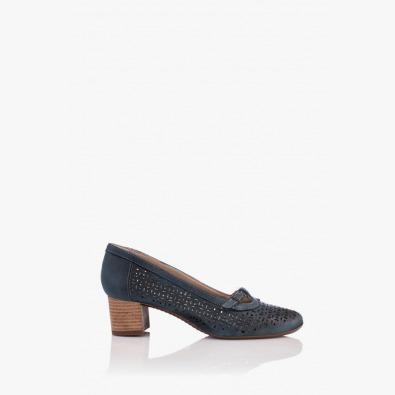 Кожени дамски перфорирани обувки Иви