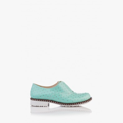 Дамски обувки с аксесоари Лея в зелено