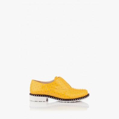 Дамски обувки с акресоари Лея в жълто