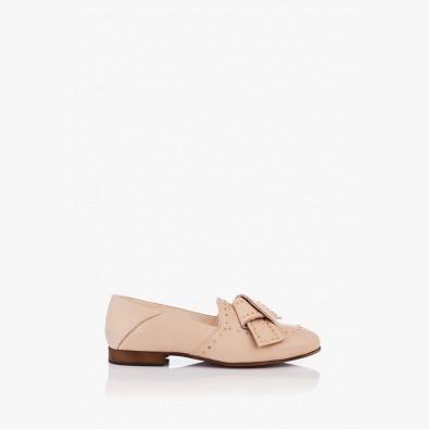 Бежови дамски обувки с аксесоар Росабелла