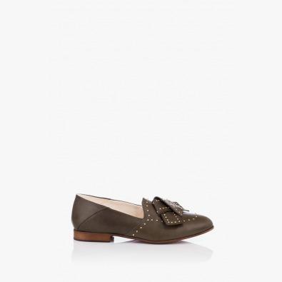Тъмно зелени дамски обувки Росабелла