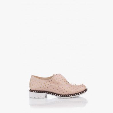 Дамски лачени обувки цвят пудра Лея