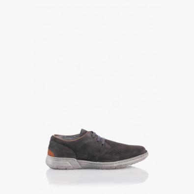 Сиви мъжки обувки с връзки Фабрицио