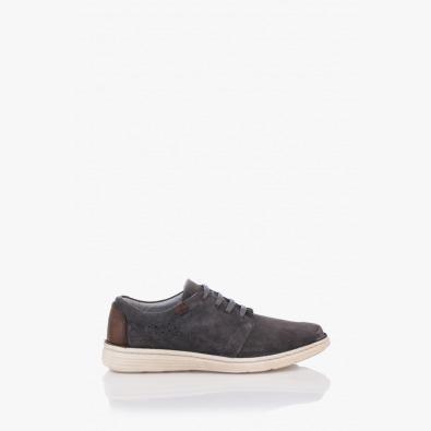 Мъжки сиви велурени обувки Франко