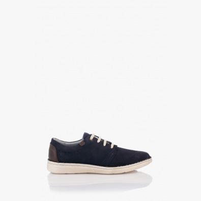 Тъмно сини мъжки велурени обувки Франко
