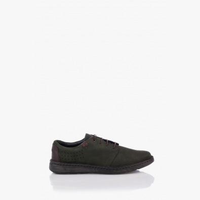 Тъмно зелени мъжки обувки с връзки Филипо