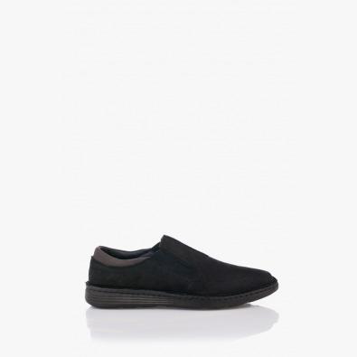 Черни мъжки кожени обувки Фредо