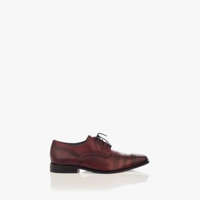 Кожени мъжки обувки в бордо Люк