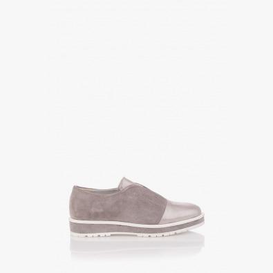 Сиви велурени дамски обувки Ейми