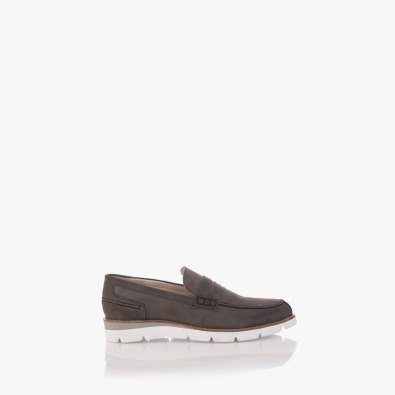 Велурени мъжки обувки Ензо в сиво