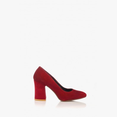 Велурени дамски обувки на ток Леанор