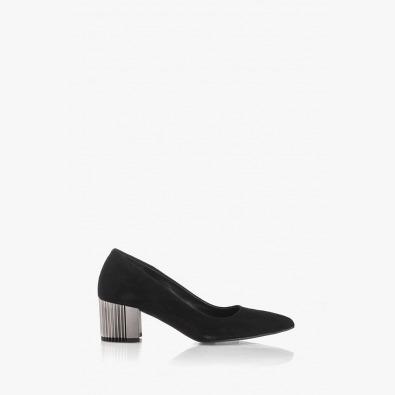 Дамски велурени обувки на ток Бевърли