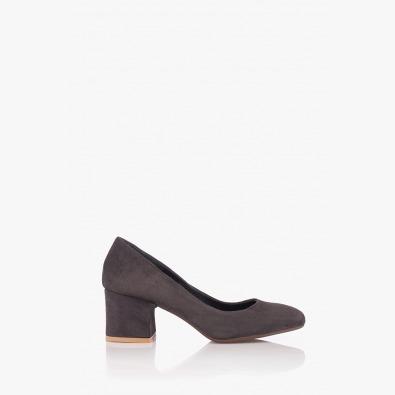 Сиви велурени дамски обувки Леонора