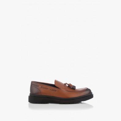 Кожени мъжки обувки Феликс с аксесоар
