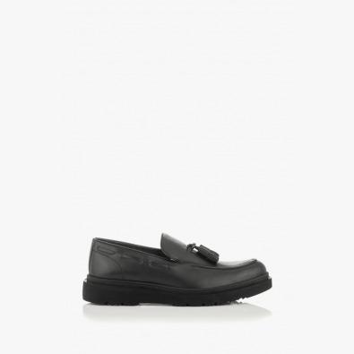 Кожени мъжки обувки в черно Феликс
