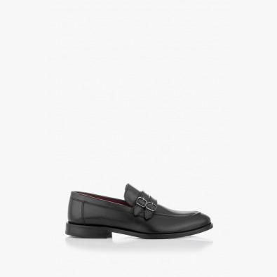 Кожени мъжки обувки в класическо черно Алвин