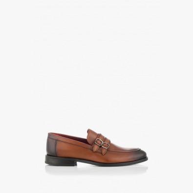 Мъжки елегантни кожени обувки Алвин