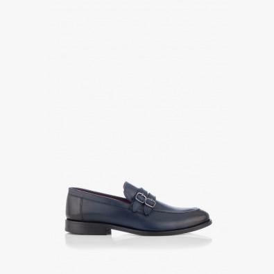 Сини мъжки класически обувки Алвин