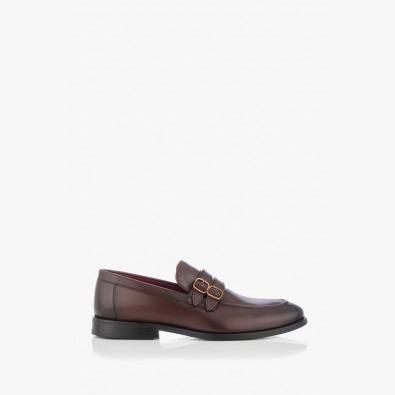 Кожени мъжки обувки в кафяво Алвин