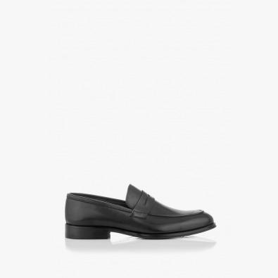 Черни класически мъжки обувки от естествени материали Логан