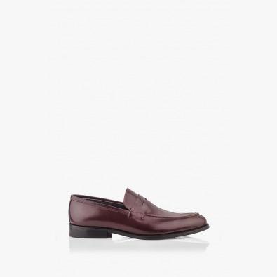 Класически мъжки обувки в тъмно кафяв лак Логан