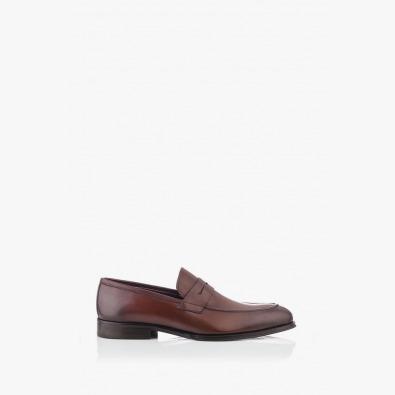 Кожени мъжки обувки в кафяво Логан