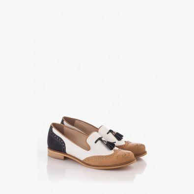 Ежедневни дамски кожени обувки