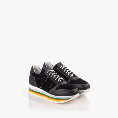 Черни дамски спортни обувки