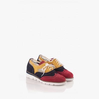 Цветни дамски велурени обувки