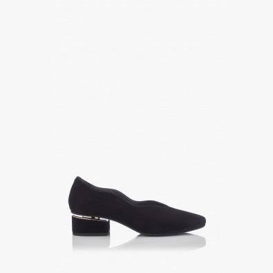 Дамски обувки Нора черен велур