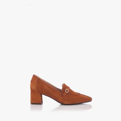 Велурени дамски обувки Оливиа на ток