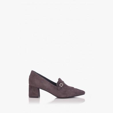 Сиви велурени дамски обувки Оливиа