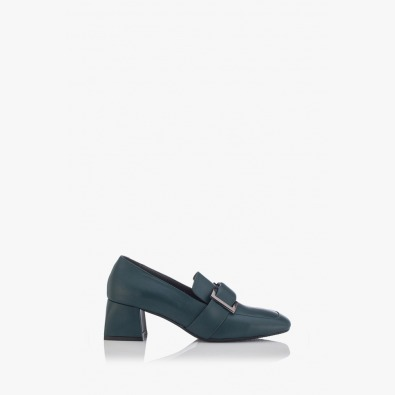 Зелени дамски кожени обувки Елла