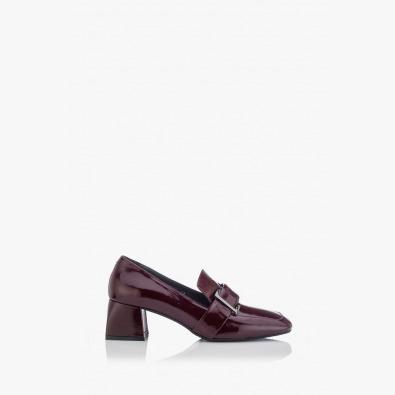 Класически дамски обувки лак бордо Елла