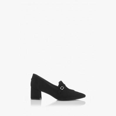 Черни велурени дамски обувки Оливиа