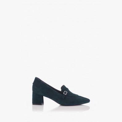 Зелени велурени дамски обувки Оливиа